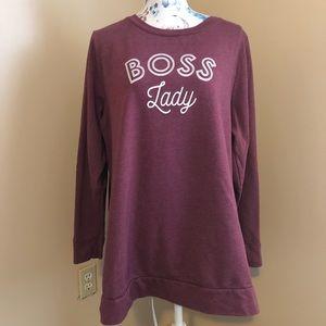 Lane Bryant Boss Lady long sleeve light sweatshirt